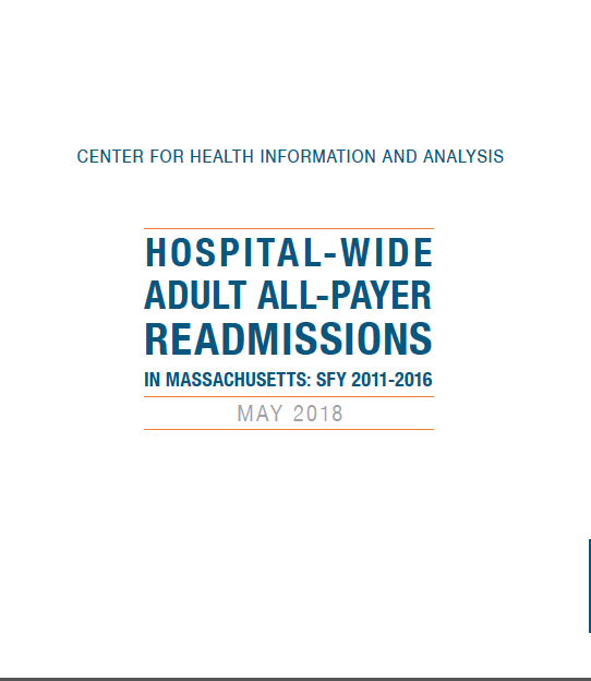 Hospital-Wide Adult All-Payer Readmissions in Massachusetts: SFY 2011-2016